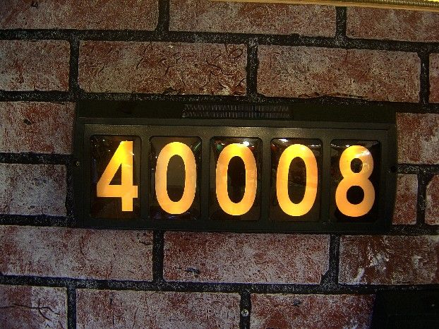 Led lighted solar house number truckee house pinterest Led house numbers