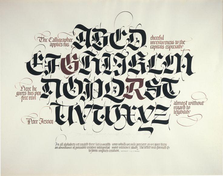 Blackletter Calligraphy Lettering Pinterest