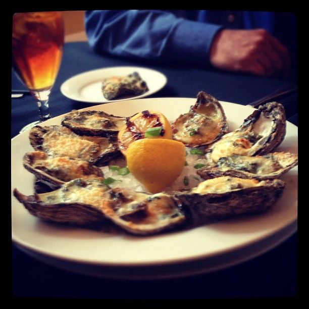 Oysters Rockefeller at Vic's on the River in Savannah