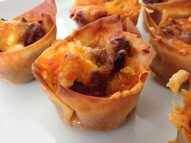 Lasagna Cupcakes   Recipes   Pinterest