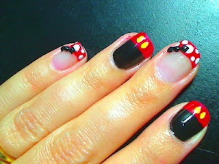 Mickey & Minnie Inspired Manicure