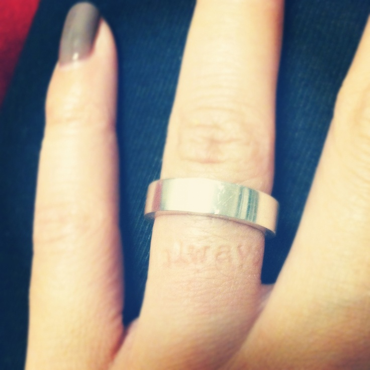 My Promise Ring That Imprints The Word Always On My