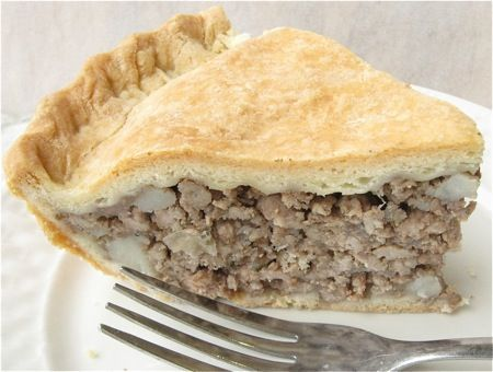 Tourtiere holiday meat pie - make it with ground turkey