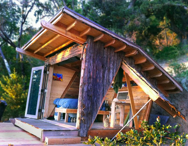 Grass Roof Bark Side Shed Small House Inspiration
