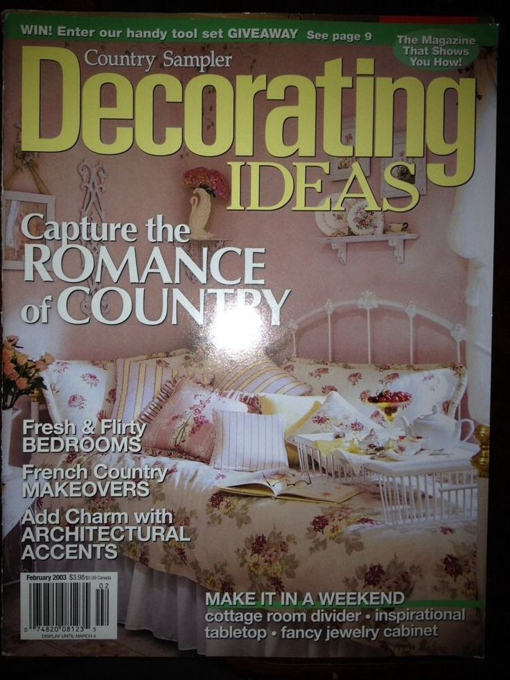 country sampler 39 s decorating ideas magazine february 2003
