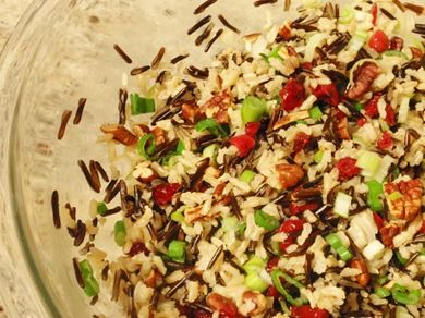Cranberry Pecan Wild Rice salad | Recipes | Pinterest
