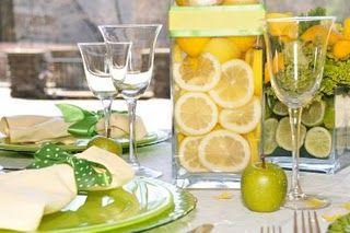 Lemon and lime center piece ideas.