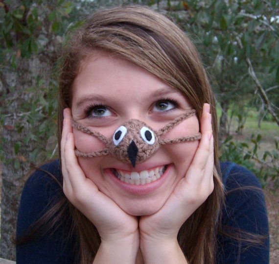 Crochet Nose Warmer : ... Nose Warmers?! Who knew! Who Owl Nose Warmer Nose Cozy Crocheted Tween