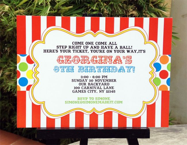 carnival party invitations templates