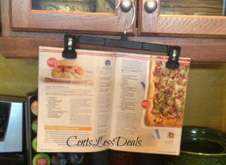 CookbookHangerKitchenIdeasPinterestCookbook