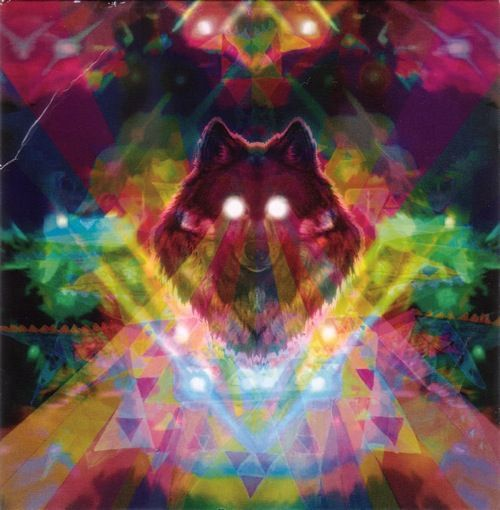 Trippy wolf painting - photo#3