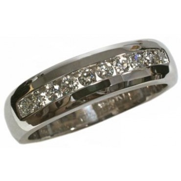 Men's diamond band with 0.40carat total diamond weight in 14k white ...