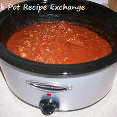 Thick, Thick Crock Pot Chili with Beans | Crockpot | Pinterest