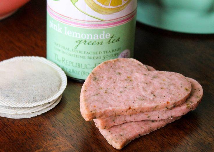 funky....pink lemonade green tea shortbread.