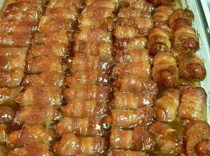 Lil smokies bacon wrapped | Tried and True Recipes | Pinterest