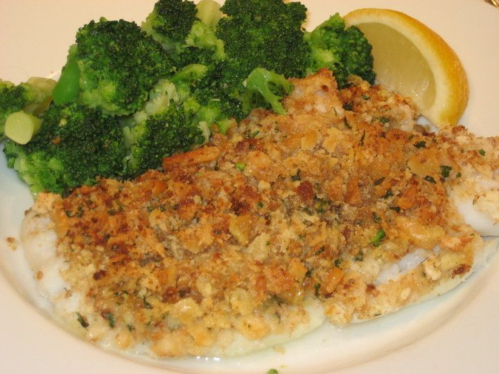 Baked Cod with Ritz Cracker Crumb Topping photo