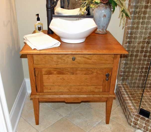 Antique Cabinet Powder Room Sink And Vanity Pinterest