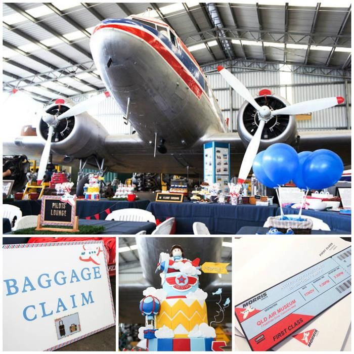 Aviation airplane themed birthday party ideas supplies for Aviation decoration ideas