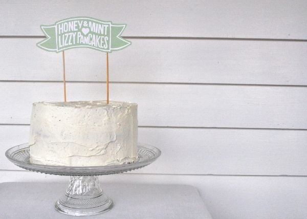 Fluffy vanilla cake by @Rosie HW Alyea and AMAZING cake topper made by ...