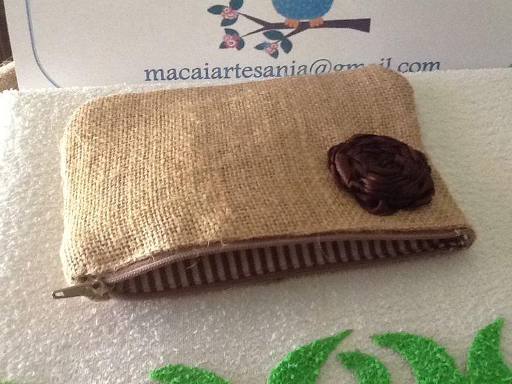 Monedero tela de saco manualidades pinterest - Manualidades con tela de saco ...
