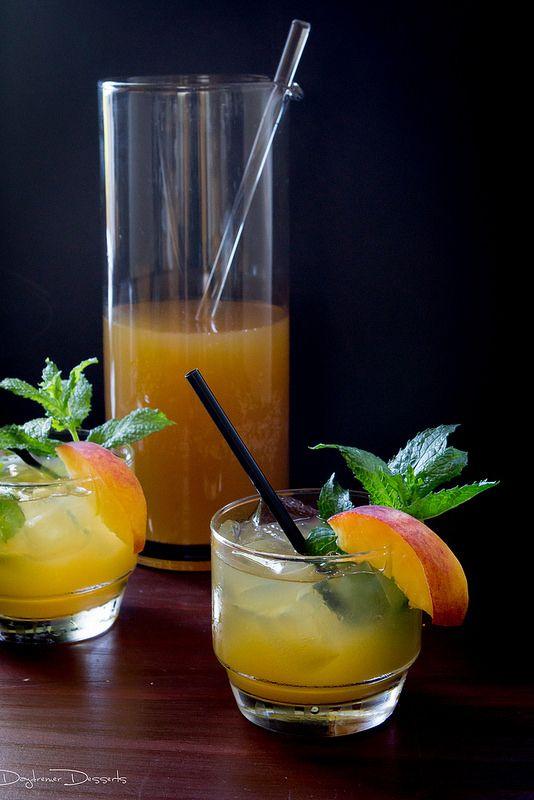 Peach Mint Julep | Alcohol | Pinterest