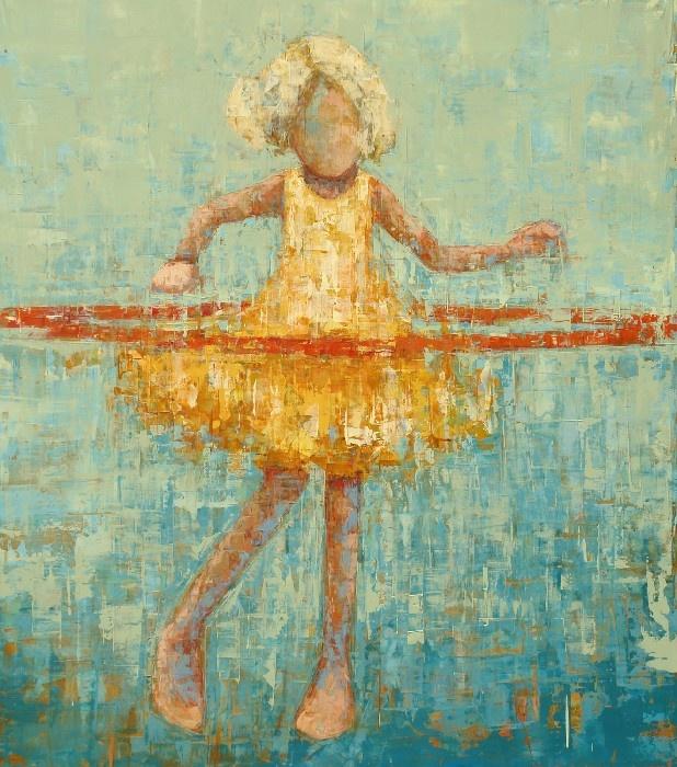 Hula girl by artist Rebecca Kinkead.