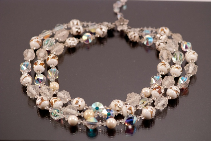 vendome necklace high end vintage beaded jewelry