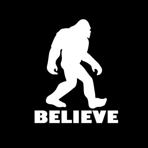 bigfoot sasquatch believe vinyl decal i do think there bigfoot clipart silhouette bigfoot clipart silhouette