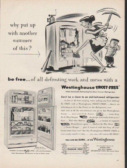 Vintage westinghouse refrigerator advertisements