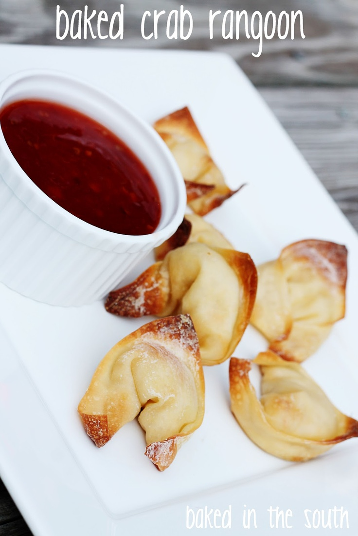 baked in the south: baked crab rangoon | food for first and ten | Pin ...