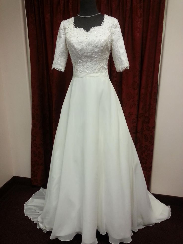 Totally modest wedding dresses discount wedding dresses for Inexpensive modest wedding dresses