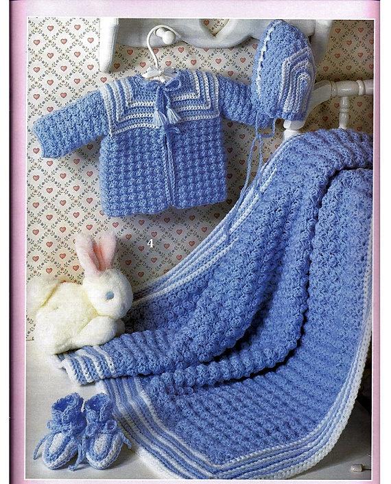 Layer Crocheted Pattern Baby Girl Skirt : Beautiful Baby Layettes to Crochet Pattern Leisure Arts 3136