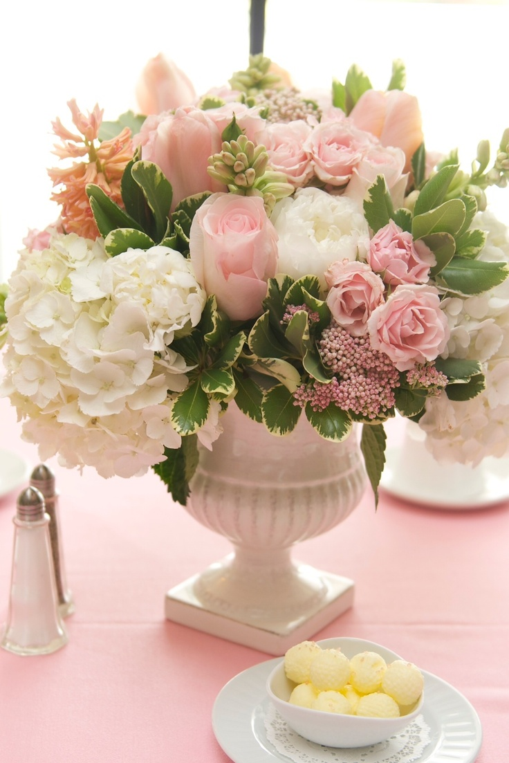 Christening centerpiece party pinterest