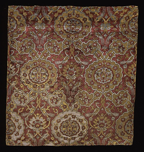 16th centuryPersian textile fragment via The Los Angeles County Museum of Art
