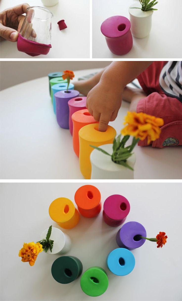 Ingeniosos jarrones hechos con globos