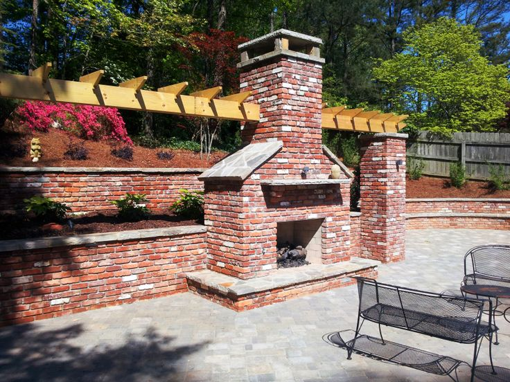 Outdoor Stone Stacked Fireplace Our Outdoor Kitchens And Fire Featu