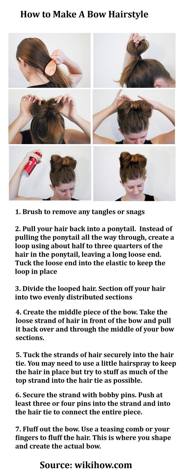 hugh jackman hairstyle : How to Make A Bow Hairstyle Hairstyles Pinterest