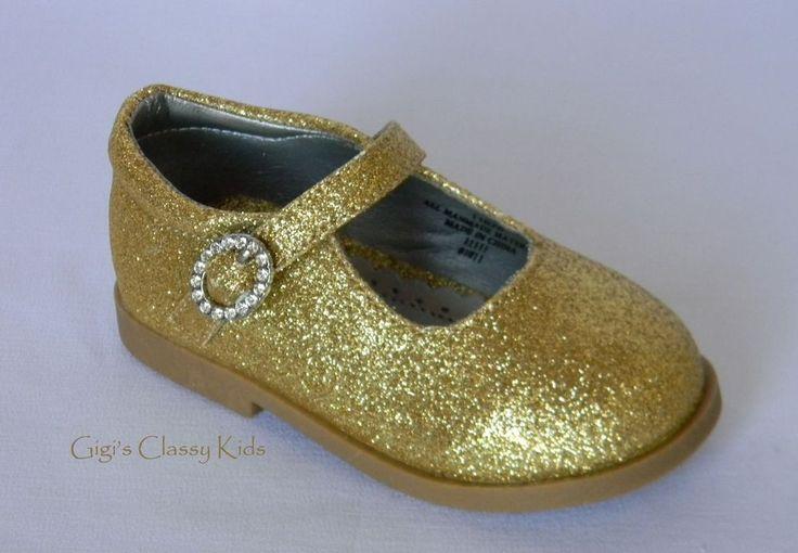 Christmas dress girl toddler - New Baby Toddler Girls Gold Glitter Dress Shoes Mary Jane Christmas