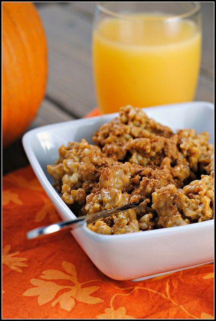 Crock Pot Pumpkin Pie Steel Cut Oats | Recipes | Pinterest