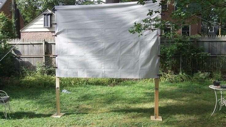 Diy backyard movie screen my yard hates me and the feeling is mut