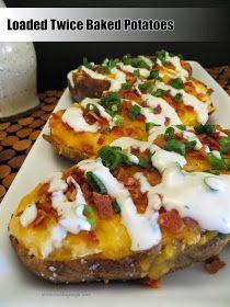 Twice Baked Potatoes | Food | Pinterest