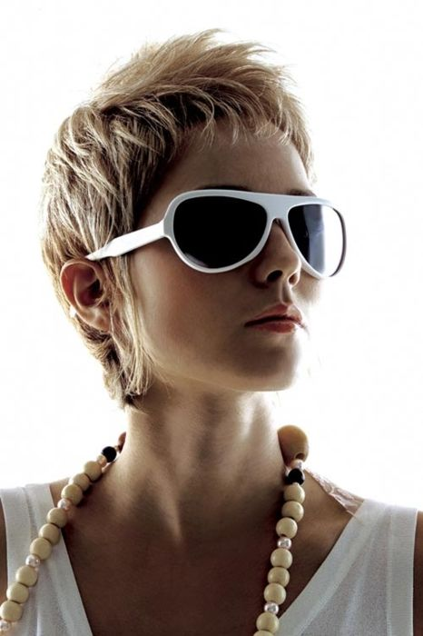 Hairstyles For Short Hair Glasses : Super short bangs. Long sideburns Haircuts Pinterest