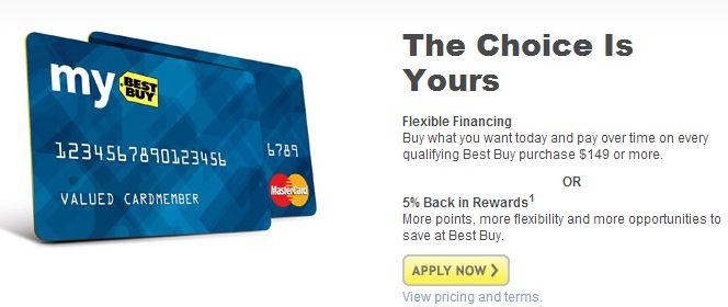 best buy credit card no interest deals