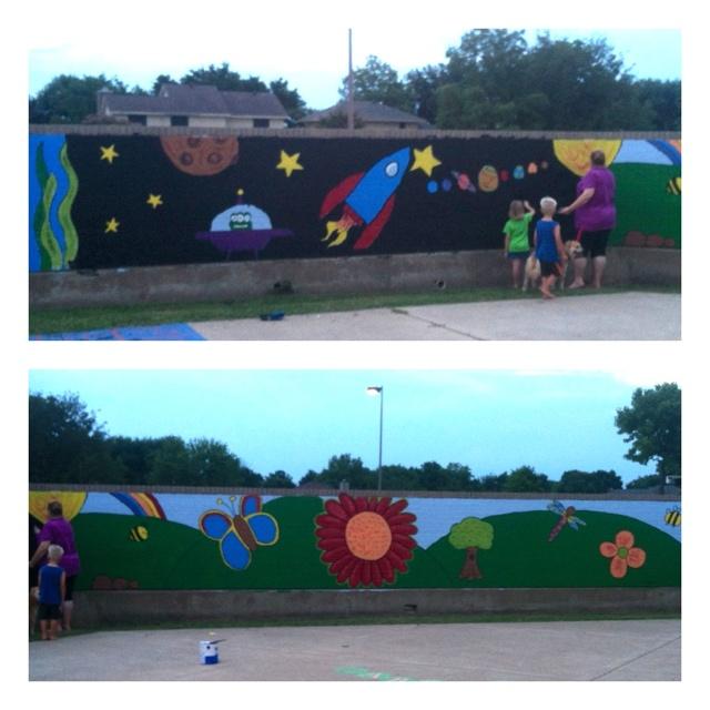 Elementary school murals mural ideas herfurth es for Elementary school mural ideas