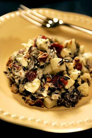 Apple-wild rice salad with blue cheese and Calvados dressing (LA Times ...