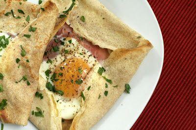 Ham And Egg Crepe Squares Recipe — Dishmaps