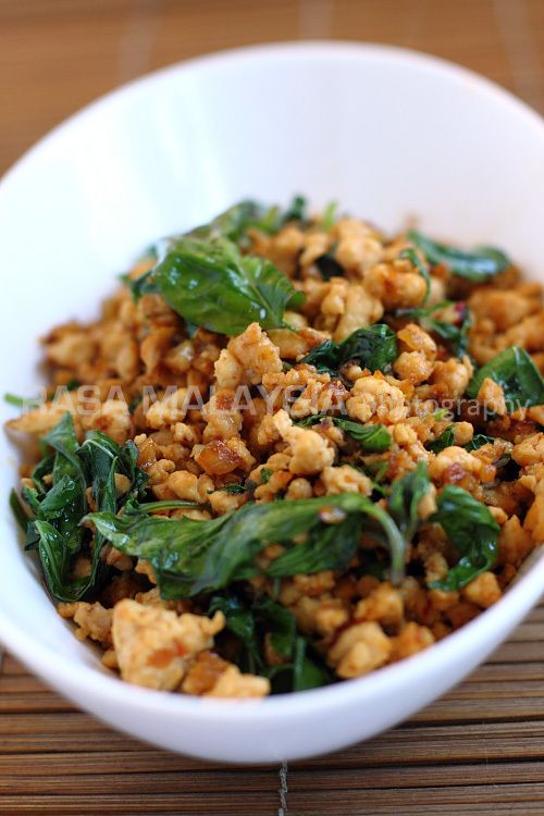 Thai Basil Chicken Recipe from Taste Book (Gai Pad Krapow) http://www ...