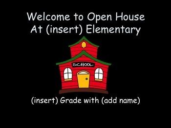 free open house powerpoint template open house meet the teacher