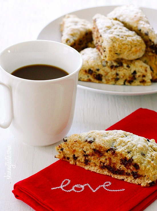 Skinny Chocolate Chip Buttermilk Scones!!!! |skinnytaste.com