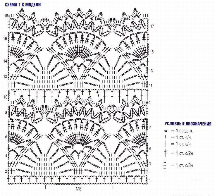 Вязание крючкоммодели схемы 76